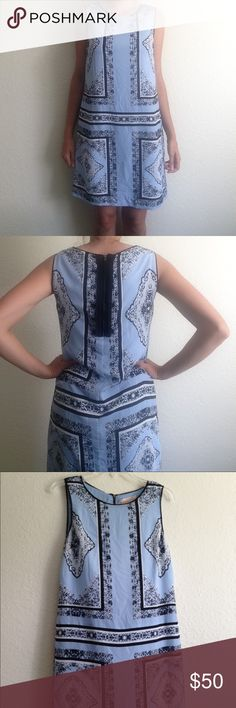 {new listing} Philosophy dress Beautiful patterned dress. Philosophy by Republic Clothing. Zipper in the back. Fully lined. 100% polyester. Machine washable. Philosophy Dresses Midi