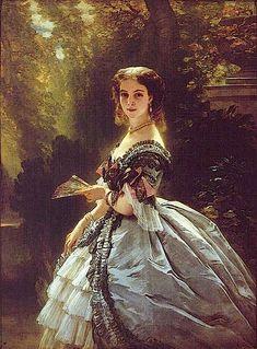 1859 Princess Elizaveta Esperovna Trubetzkaia by Franz Winterhalter (private collection)