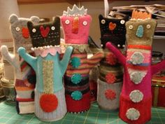 wool dollies from old sweaters
