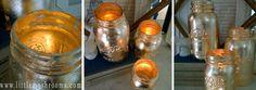 how to make gold covered mason jar candles, crafts, diy, mason jars