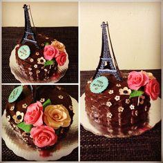 Pastel francés torre iffel