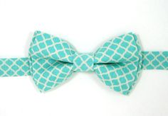 Turquoise bow tie,Blue bow tie,Easter bow tie,Wedding bow tie,Party bow tie for Men ,Toddlers ,Boys,Baby