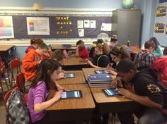 Socrative in the classroom... Amazing student engagement #technology #studentengagement #exitslip