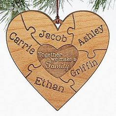 Image result for diy personalized family christmas ornaments