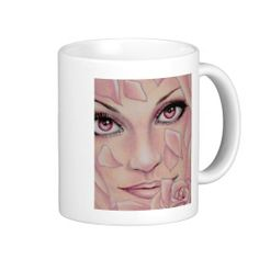 Pink Coffee Mugs #zazzle #mug #faces #drawings #pencil #art #pink