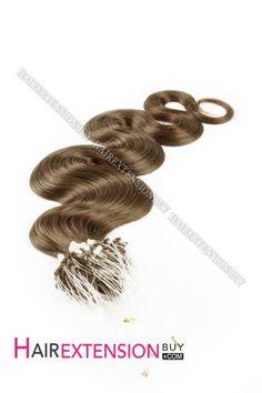 "14"" #10 Body Wave Micro Loop Human Hair Extensions Micro Loop Hair Extensions, Best Human Hair Extensions, Wave 3, Body Wave, Brown Bodies, 50s Hairstyles, Medium Brown, Hair Color, Hair Accessories"