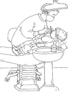 When you are teaching kids about all the important things in life one of the important things to teach them is good dental care. People Coloring Pages, Colouring Pages, Adult Coloring Pages, People Who Help Us, Kindergarten Themes, Community Helpers, Medical Help, Hygiene, Dental Health