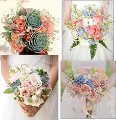 BOUQUETS: Fresh and gorgeous! Love the colours, the flowers, the arrangements - love them all!