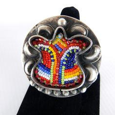 Tulip Ring by Navajo artist JT Willie