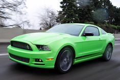 "2013 Mustang in the color ""Gotta Have It Green"""