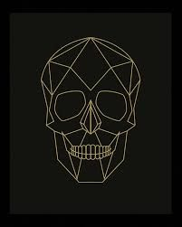 Geometric Skull Skull Print Skull Poster Geometric by Woofworld - - Trendy Tattoos, New Tattoos, Cool Tattoos, Geometric Drawing, Geometric Art, Geometric Skull Wallpaper, Geometric Poster, 3d Cnc, Skull Illustration