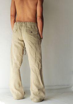 Men's 100 percent hemp pants [P 1434]