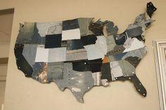 Blue Jean USA map