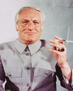 English actor Charles Gray as Spectre founder Ernst Stavro Blofeld in the James Bond film Diamonds Are Forever, directed by Guy Hamilton in 1971