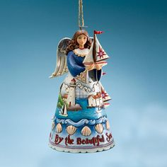Coastal Angel Hanging Ornament. Item number 18691. Price $16.50
