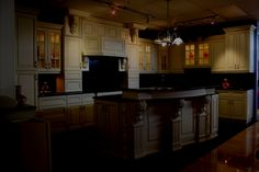 Shining Kitchen Design Ideas with antique white cabinets Wallpaper