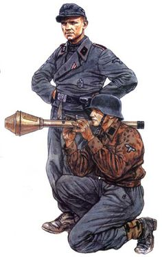 """German Grenadiers of the 12th SS Panzer Division """"Hitlerjugend""""."""