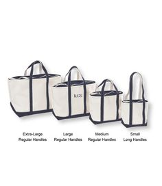 Great bags for organizing, shopping, beaching. Comes with a zipper top or not. The Extra Large ones are about $40.00. Look for the long handle version and consider if you need it for carrying the bag.