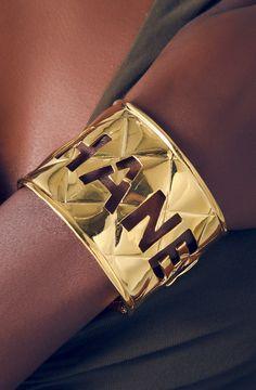 CHANEL cut out cuff bracelet