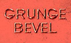 bevelled-grunge-type