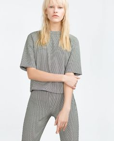 Image 3 of HOUNDSTOOTH TOP from Zara