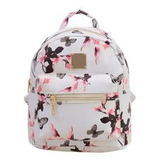 9f2d5d17b8 Flower Floral Women s Leather Backpack Children Backpacks Fashion Ladies  Schoolbag for Teenagers Girls Female Backbag Mochila -in Backpacks from  Luggage ...