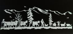 Paper Cutting, Paper Art, Paper Crafts, Scroll Saw Patterns, Kirigami, Laser, Wilderness, Advent, Window
