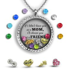 Looking for personalized gifts for moms who have everything? Our custom charm necklaces are the perfect gift to send to your Mom or Grandma. Customize your locket color: Rose Gold, Gold, Silver or Silver Crystal. All of our customized lockets come with a special keepsake box. #giftsforher #giftidea #jewelry #giftsformom