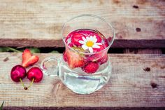 Cherry + Strawberry+ Water +Healthy+ Fitness LOVE