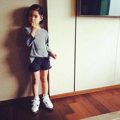 """Lee Haru: """"Rockin' new J's"""" Korean Actresses, Actors & Actresses, Kang Hye Jung, Lee Haru, Superman Kids, Song Triplets, Kid N Teenagers, Korean Babies, Asian Kids"""