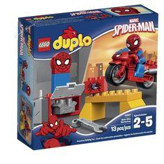 LEGO DUPLO Super Heroes Marvel Spider Man Web Bike Workshop Spiderman Kids Toys  #LEGO