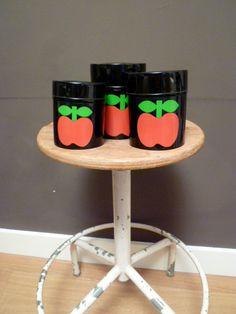 Vintage apple tins