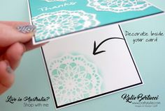 Kylie Bertucci - Tutorial Bundle March. Click on the picture to see the amazing Tutorial Bundle Design team and see why you need to get the amazing bundle. Colouring Techniques, Card Making Techniques, Lace Doilies, Creative Cards, Flower Cards, Stampin Up Cards, Diy Cards, Handmade Cards, Card Ideas