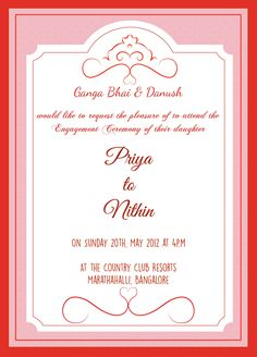 Indian engagement invitation card with wordings check it out accept whatsapp invitation as speaker stopboris Images