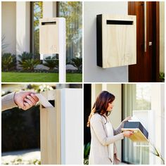 contemporary mailbox that can be customized with your house number by Lee Rodezno of Javi Design