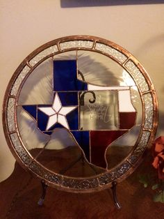 Home Sweet Home Texas Stained Glass Projects, Stained Glass Patterns, Texas Decorations, Texas Home Decor, Texas Crafts, Texas Things, Waylon Jennings, Texas Forever, Loving Texas