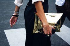 ♕ Janae's Style--metallic gold envelope clutch
