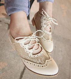 Cutout Oxford shoe lace belt winds in Rome with casual shoes women shoes danxie