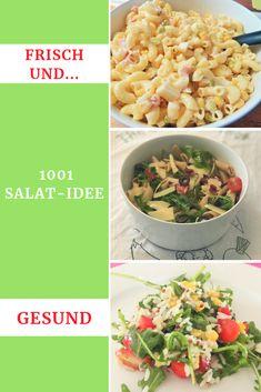 Ein knackfrischer Salat   ist schnell parat. Salate stecken voller Vitamine und haben das ganze   Jahr Saison. Und für Abwechslung sorgen diese tollen Salat-Rezepte.  #Salat #Rezept #gesund #Familienküche #LaCucinaAngelone #DieAngelones Grill, Pasta Salad, Ethnic Recipes, Happy, Food, Side Dish Recipes, Lettuce Recipes, Salad Ideas, Healthy Salads