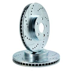 ATL Autosports Performance Brake Rotors Front Pair Fits 2011 Mercedes-Benz R350 ATL34297-42DS, Silver