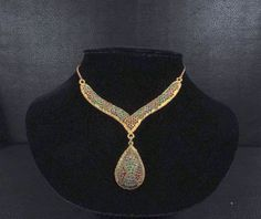 Fabulous Rhinestone Encrusted Bib Necklace by KatsCache on Etsy, $149.95