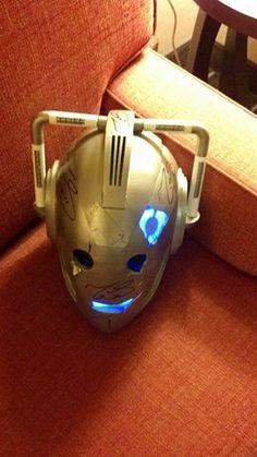 Cyberman Handles Helmet