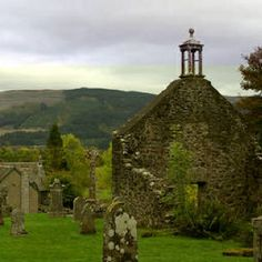 (St. Kilda Kirk and Kirkyard) Rob Roy MacGregor's Grave-Balquhidder Kirk Scotland. Day trip for Fred and me. It was lovely and so peaceful.