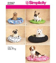 Simplicity Pattern 2297-Craft Dog Beds-All Sizes