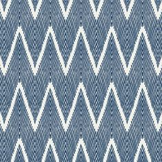 Tribal Navy Blue Chevron Fabric Bali Denim