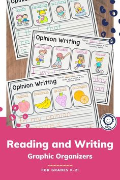 This reading and writing graphic organizers pack has 228 pages of generic graphic organizers that can be used with any topic or any book! This product also includes a digital version of each graphic organizer to meet your classroom needs! Generic graphic organizers are great to use as a center during literacy centers. They help you and your students practice a certain skill, while still giving them the chance to use different books or work on different topics. Perfect for k-2… Narrative Writing, Informational Writing, Opinion Writing, Writing Practice, Writing Skills, Writing Graphic Organizers, Class Activities, Reading Workshop, Chapter Books