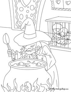 Easy Hansel Y Gretel Para Colorear 29 For Children with Hansel Y Gretel Para Colorear Cartoon Coloring Pages, Adult Coloring Pages, Coloring Sheets, Coloring Books, Colouring, Hansel Y Gretel, Grimm Tales, Free Hd Wallpapers, Free Printable Coloring Pages