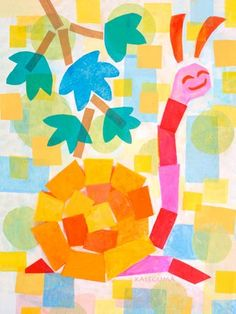 """""""Joanie the Snail"""" - Canvas Wall Art from Oopsy daisy, Fine Art for Kids."""