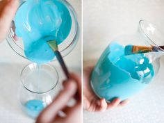 re-purpose - paint old vases to give them a fresh look