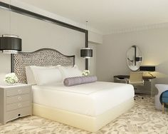 Luxurious Bedroom Design Equipped With Wooden Flooring And ...